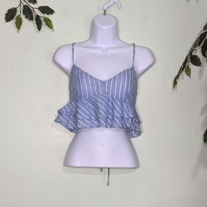 5/$15 Forever 21 Ruffled Crop Top Corset Back